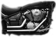 Short Cut Pipes Auspuffanlage für Suzuki 800er Modelle