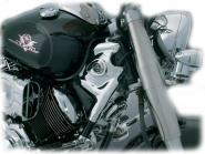 Steuerkopf-Verkleidung verchromt für Yamaha XVS 1100 Drag Star