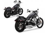 Vance & Hines Twin Slash staggered Slip On für H-D® Dyna Modelle, E-geprüft
