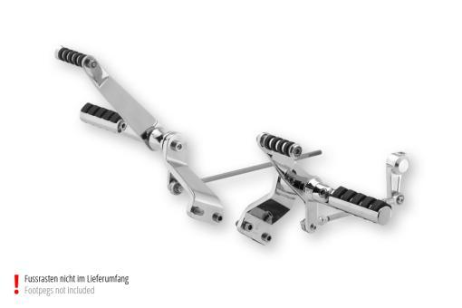 Fußrastenanlage für Sportster® -Modelle ab 04, 300mm vorverlegt