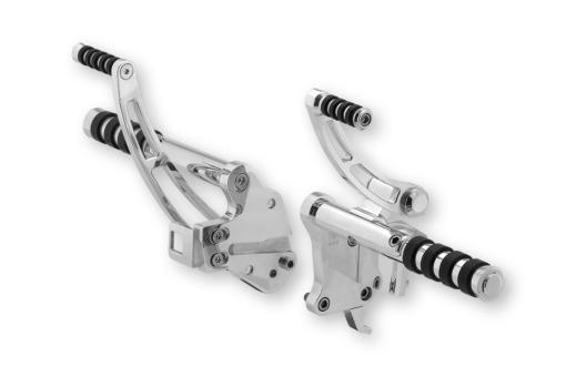 Alu-Fußrastenanlage für Softail® FXST, 00 - 06, 50mm vorverlegt