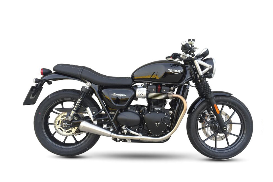 ironhead slip ons f r triumph street twin 16 e gepr ft. Black Bedroom Furniture Sets. Home Design Ideas